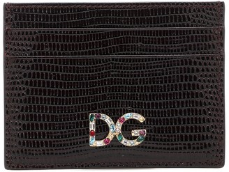 Dolce & Gabbana embossed leather card holder