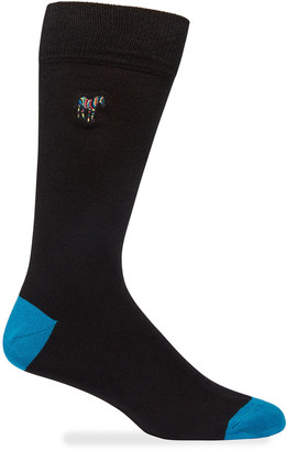 Paul Smith Men's Embroidered Zebra Crew Socks