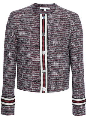 Maje Striped Cotton-tweed Jacket