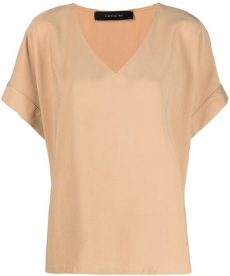 FEDERICA TOSI oversized v-neck T-shirt