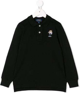 Ralph Lauren Kids teddy logo embroidered polo shirt