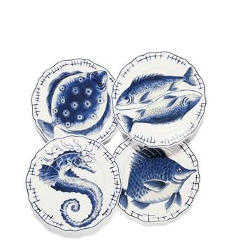 Tory Burch FISH DINNER PLATE, SET OF 4