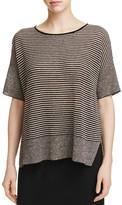 Eileen Fisher Petites Mixed Knit Stripe Sweater