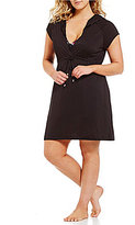 Dotti Plus Short Sleeve Hooded Dress Cover-Up