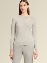 Slit Shoulder Cashmere Pullover