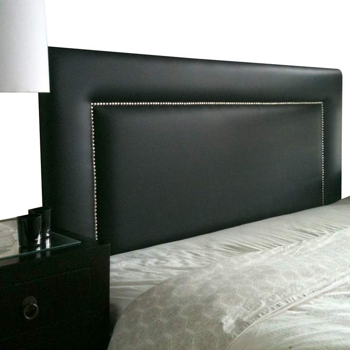 Cornermill Made in Australia Vincent Upholstered Bed Head, Wall Mounting, Black King Single