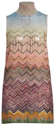 Missoni Sequin Chevron Mini Dress