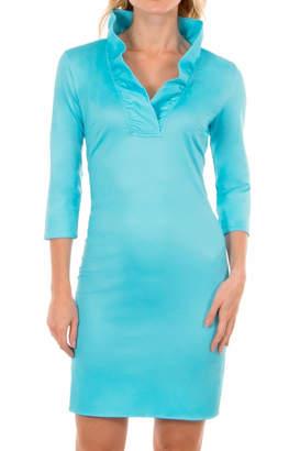 Gretchen Scott Ruffneck Jersey Dress