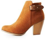 Charlotte Russe Faux Suede Ankle Booties