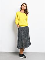 Hush Sofia Striped Skirt, Black/White