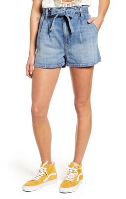 STS Blue Paperbag Waist Pleated Denim Shorts