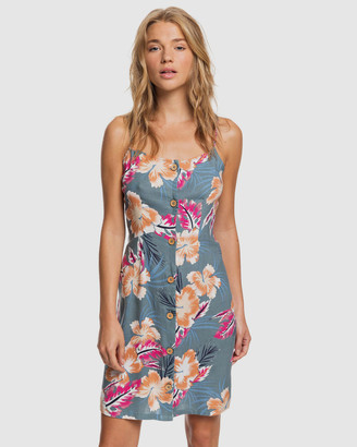 Roxy Womens Sweet About Me Printed Strappy Mini Dress