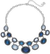 Dana Buchman Blue Oval Stone Statement Necklace