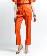 Orange Linen Pants - ShopStyle