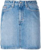 Calvin Klein Jeans vertical stripe denim mini skirt