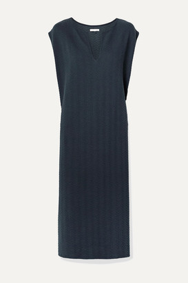 Skin Catalina Textured Stretch-cotton Midi Dress - Midnight blue