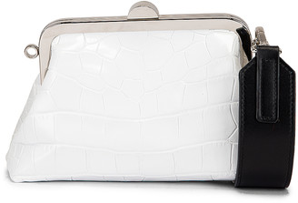 Marques Almeida Marques ' Almeida Mini Clasp Bag in White | FWRD