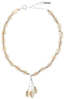 Isabel Marant Oscar Shell Necklace - Womens - Light Yellow