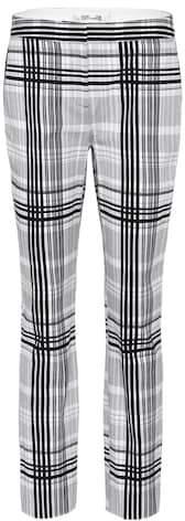 Diane von Furstenberg Darnley plaid cotton trousers