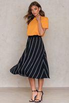 NA-KD Pinstriped Midi Skirt