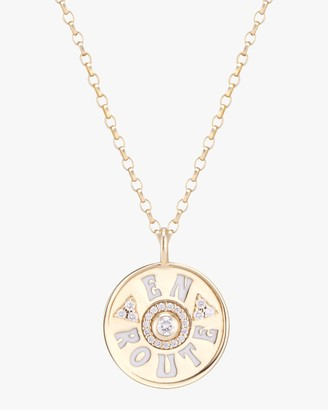 Marlo Laz Mini En Route Coin Pendant Necklace
