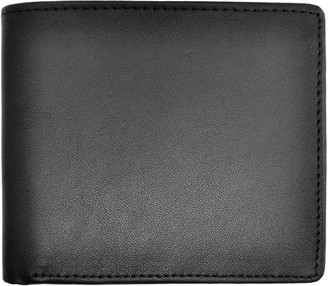 Royce Leather Royce New York Men's Leather Bi-Fold Wallet w/Double ID Flap