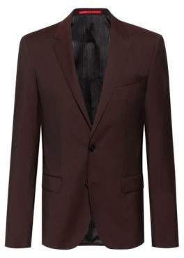 HUGO BOSS Slim-fit jacket in textured virgin wool