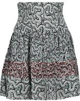 A.L.C. Misha Pintucked Floral-Print Silk Crepe De Chine Mini Skirt