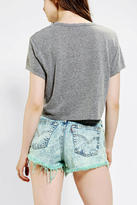 Truly Madly Deeply Stencil Floral Cropped Tee