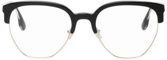 Victoria Beckham Black Half-Rim Glasses