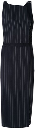 Dion Lee Pinstripe Utility midi dress
