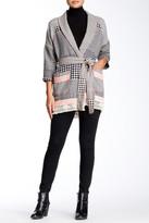Gypsy 05 Gypsy05 Belted Barre Jacquard Kimono Cardigan