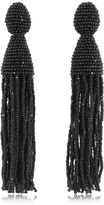 Oscar de la Renta Classic Long Tassel Clip-On Earrings
