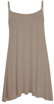 GirlzWalk Ladies Women Plain Cami Sleeveless Flared Swing Dress