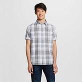 Men's Short Sleeve Shirt Gray Plaid Doubleweave - Mossimo Supply Co.