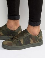 Asos Sneakers in Khaki Camo