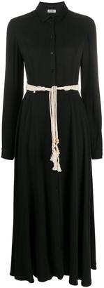 Liu Jo Tie Waist Shirt Dress