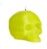 D.L. & Co. Medium Bright Green Skull Candle