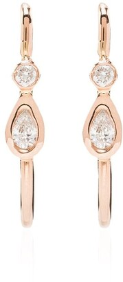 Jacquie Aiche 14kt Gold Diamond Hoop Earrings