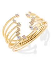 Kendra Scott Kinsley Gold Bangle Bracelet Set in Escape