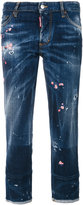 DSQUARED2 floral embroidered boyfriend jeans