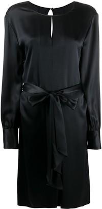 Joseph Tie-Waist Silk Dress