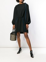 Loewe corded balloon sleeve mini dress