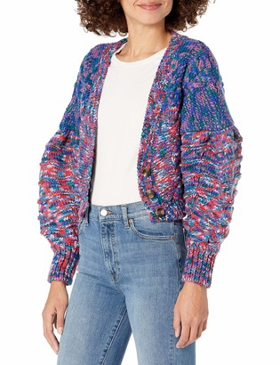 For Love & Lemons Women's Dropped Shoulder Multi-Color Cardigan