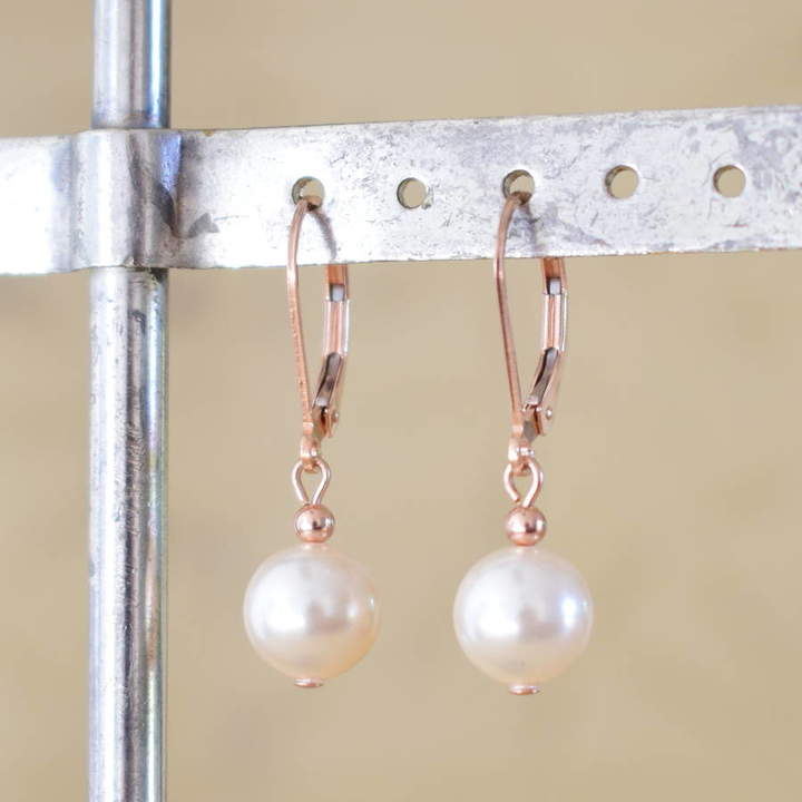 435b8dca1580a1 Pearl Lever Back Earrings - ShopStyle UK