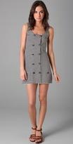 Imitation Striped Vest Dress