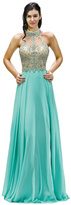 Dancing Queen - Exquisite High Halter Chiffon A-Line Dress 9293