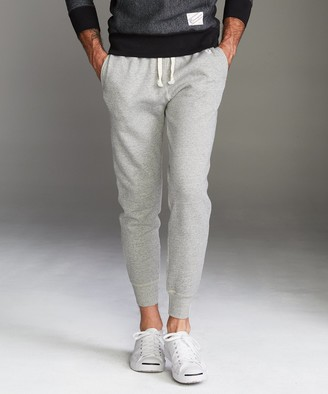 Todd Snyder + Champion Heavyweight Slim Jogger Sweatpant in Light Grey Mix