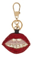 Gucci Mouth crystal-embellished key ring