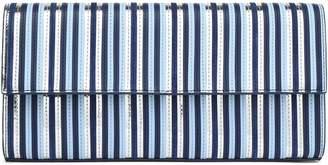 Diane von Furstenberg Metallic Striped Leather Clutch